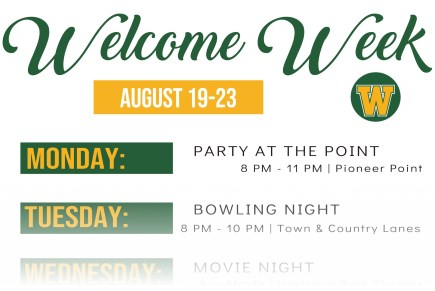 Joins us for Welcome Week!